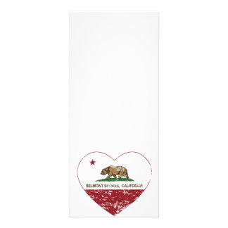 le drapeau Belmont de la Californie étaye le coeur Bristol