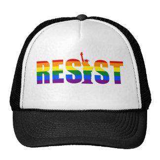 Le drapeau d'arc-en-ciel de LGBT résistent à Casquettes