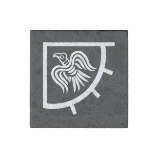 Le drapeau de bannière de Vikings Raven Magnet En Pierre