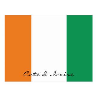 Le drapeau de la Côte d'Ivoire colore la carte Carte Postale
