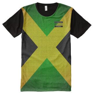 Le drapeau de la Jamaïque colore le T-shirt noir
