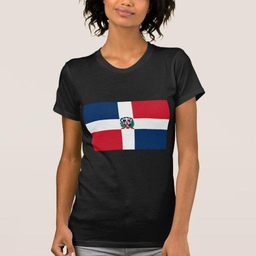 Le drapeau de la République Dominicaine FONT T-shirt