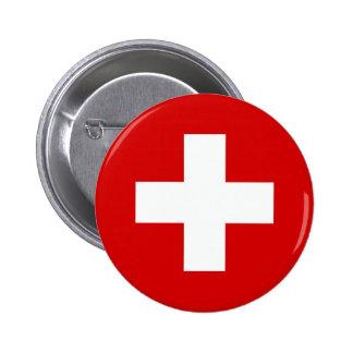Le drapeau de la Suisse Badges Avec Agrafe
