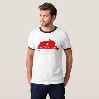 Le drapeau de la Suisse colore le T-shirt de