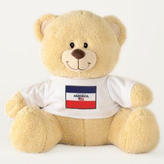 Le drapeau de l'Amérique colore l'ours de nounours