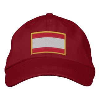 Le drapeau de l'Autriche a brodé le casquette Casquette Brodée