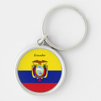 Le drapeau de l'Equateur conçoivent en fonction du Porte-clé Rond Argenté