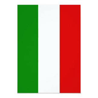 Le drapeau de l'Italie Carton D'invitation 12,7 Cm X 17,78 Cm