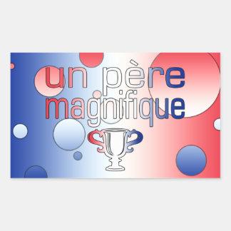Le drapeau de l'ONU Père Magnifique France colore Sticker En Rectangle