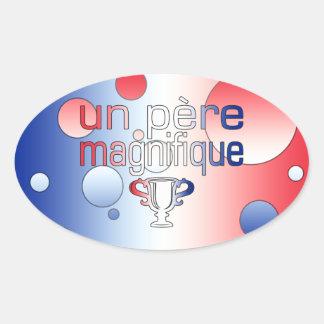Le drapeau de l'ONU Père Magnifique France colore Autocollant Ovale