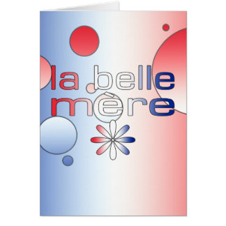 Le drapeau de Mère France de belle de La colore Cartes De Vœux