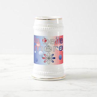 Le drapeau de Mère France de belle de La colore Chope À Bière