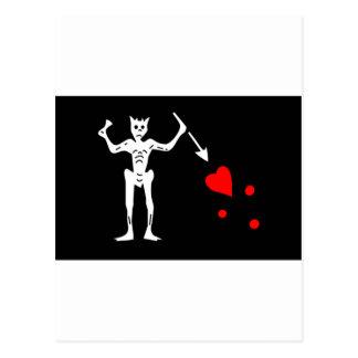 Le drapeau de pirate de Blackbeard Edouard Carte Postale