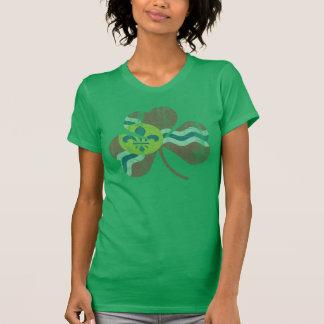 Le drapeau de shamrock de St Louis d'Irlandais se T-shirt