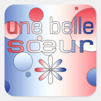 Le drapeau de Sœur France de belle d Une colore l Adhésif