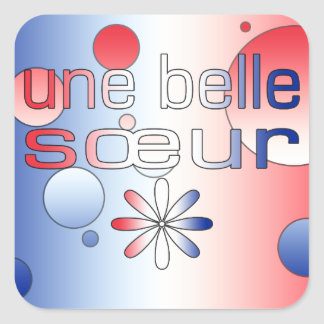 Le drapeau de Sœur France de belle d'Une colore Autocollant Carré