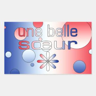 Le drapeau de Sœur France de belle d'Une colore Sticker Rectangulaire