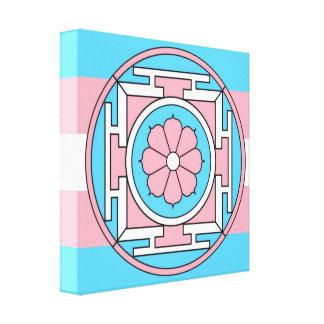 Le drapeau de transsexuel colore la nouvelle lune toile