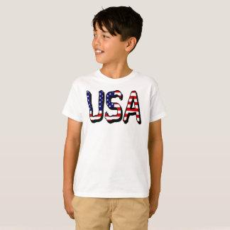 Le drapeau des Etats-Unis marque avec des lettres T-shirt