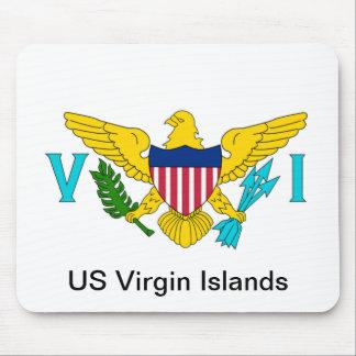 Le drapeau des Îles Vierges américaines Tapis De Souris