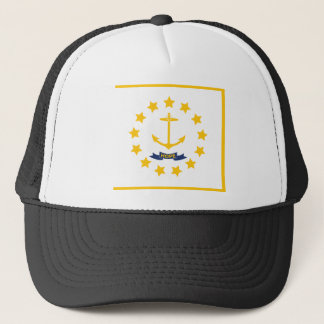 Le drapeau d'Île de Rhode. Casquette De Camionneur