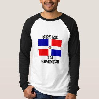 le drapeau dominicain, m'embrassent, je suis t-shirt