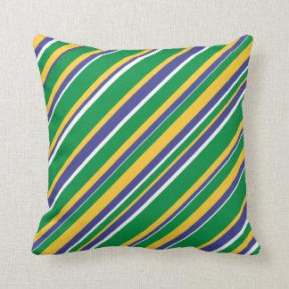 Le drapeau du Brésil a inspiré le motif coloré de Oreillers