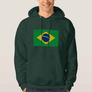Le drapeau du Brésil Pulls Avec Capuche