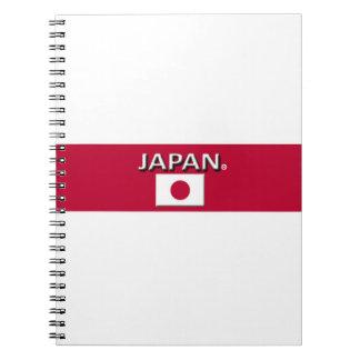 Le drapeau du Japon colore le carnet moderne de