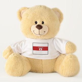 Le drapeau du Japon colore l'ours de nounours