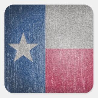 Le drapeau du Texas s'est fané Sticker Carré