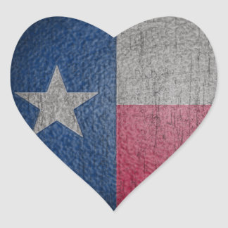 Le drapeau du Texas s'est fané Sticker Cœur