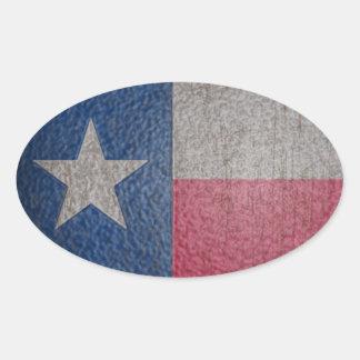 Le drapeau du Texas s'est fané Sticker Ovale