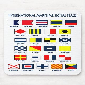 Le drapeau maritime signale Mousepad Tapis De Souris