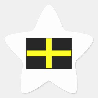 Le drapeau Pays de Galles Gallois de St David Autocollants En Étoile