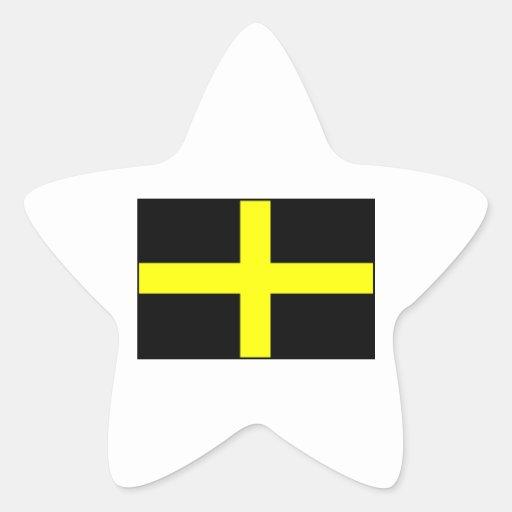 Le drapeau Pays de Galles Gallois de St David Sticker En Étoile