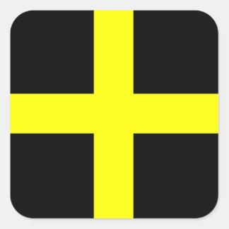 Le drapeau Pays de Galles Gallois de St David Sticker Carré