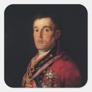 Le duc de Wellington 1812-14 Sticker Carré