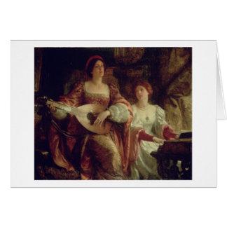 Le duo (huile sur la toile) cartes