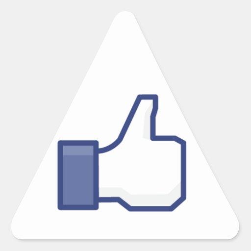 le facebook AIMENT le pouce Autocollant En Triangle