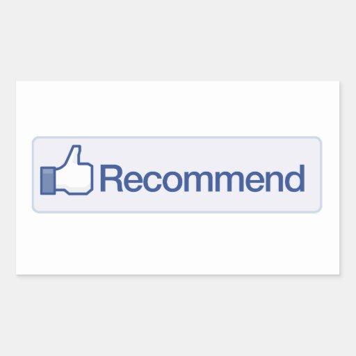 le facebook recommandent l'icône graphique drôle autocollants rectangulaires