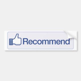 le facebook recommandent l'icône graphique drôle d autocollant de voiture