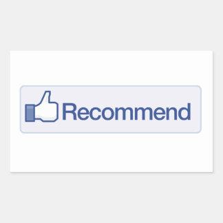 le facebook recommandent l'icône graphique drôle sticker rectangulaire