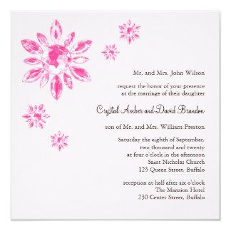 Le faire-part de mariage du cristal (rose)