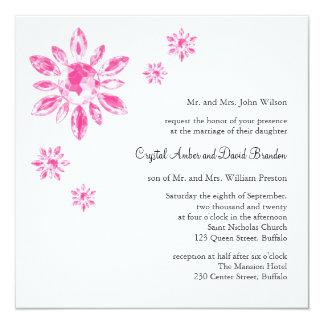 Le faire-part de mariage du cristal (white)