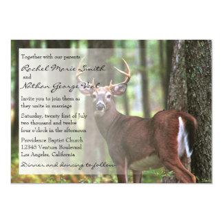 Le faire-part de mariage d'un chasseur