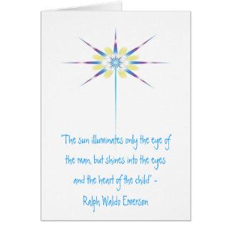 """Le faisceau de lumière, """"le soleil illumine carte de vœux"""