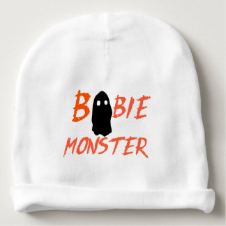 Le fantôme drôle huent la calotte de nourrisson de bonnet de bébé