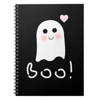 Le fantôme mignon huent le carnet heureux de