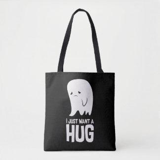 Le fantôme triste mignon veulent juste une tote bag